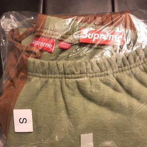 supreme split brown/green sweats